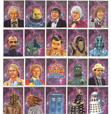 Doctor Who 30th Anniversary Collectors Cigarette Cards - Full Set - Rare NOS