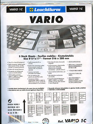25 NEW Lighthouse VARIO 1C stock pages (clear sheets)-Free Shipping!