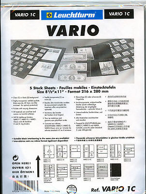 50 NEW Lighthouse VARIO 1C stock pages (clear sheets)-Free Shipping!