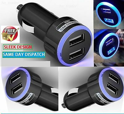 DOUBLE USB 12V CAR MICRO CHARGER ADAPTER PLUG FOR IPHONE 5 5c 5s 6+ HTC, LG