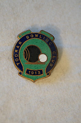 Collectable - Vintage - Toorak Bowling Club - Badge - Medal - Founded 1913.