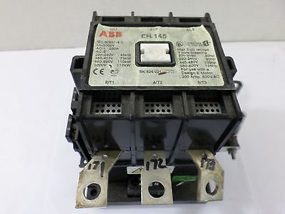 ABB EH145 CONTACTOR   125 HP  3 pole 123109016-001  24VDC coil  600V