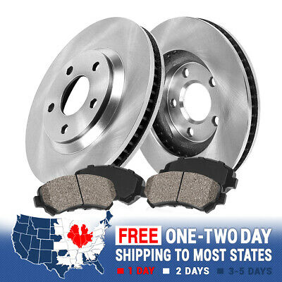 Front Replacement Brake Rotors And Ceramic Brake Pads For CHEVY CRUZE SONIC VOLT