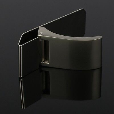 GB New Stainless Steel Silver Clamp Money Clip Wallet Credit Card ID Cash Holder