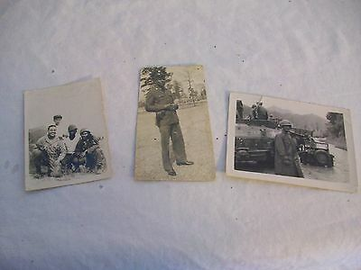 Vintage Black and White Photos War Lot of 3
