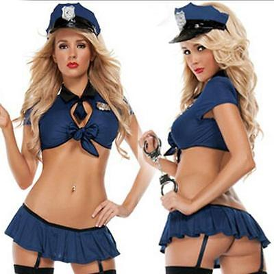 New Ladies Police Fancy Halloween Costume Sexy Cop Outfit Women Cosplay HOT
