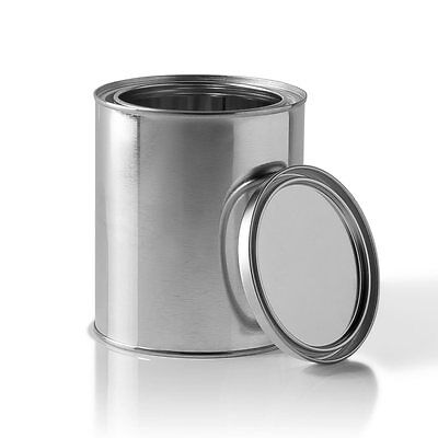 Auto Paint Empty Metal Quart Mixing Cans With Lids-Qty Of 12