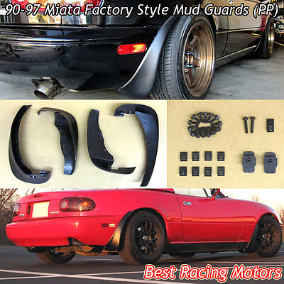 Mud Flap Guard Kit (PP) Fits 90-97 Mazda Miata