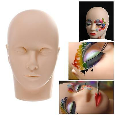 Practice Flat Mannequin Training Head Aid for Eyelash Extension Makeup & Massage