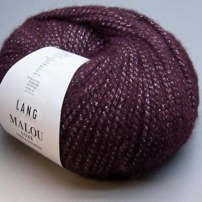 Lang Yarns Malou Luxe 0080 / 50g Wolle (19.00 EUR pro 100 g)