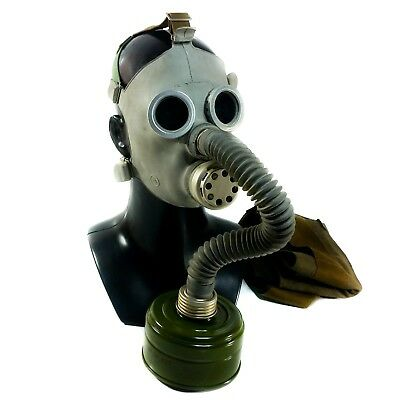 Russian child gas mask PDF grey rubber . NBC protection. Full set NOS.