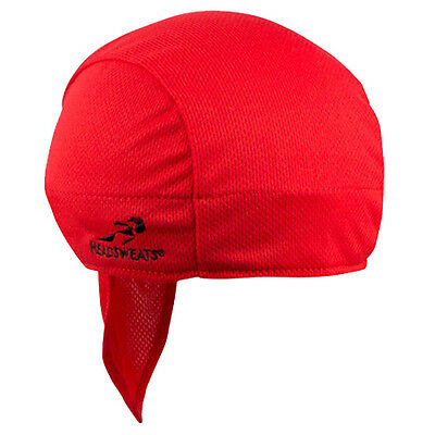 Headsweats Super Duty Cycling Running Shorty Head Skull Bandana Cap Hat, Red