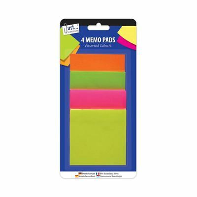 Memo Sticky Adhesive Post Pads Label Notes Paper Stationery Neon Colours