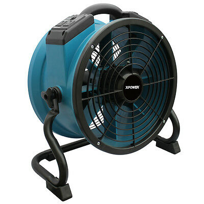 XPOWER X-34AR 1/4 HP Industrial Sealed Motor Axial Fan Floor Air Mover w Outlets
