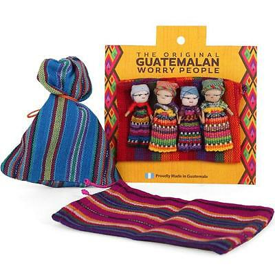 Guatemalan Worry Doll Set of 4 in Colourful Bag WD_33415