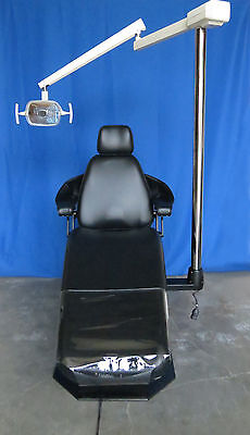 A-dec Priority 1005 Dental Operatory Chair w/NEW Black Upholstery + 6300 Light