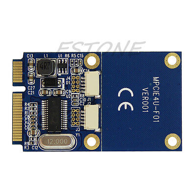 Mini PCIe PCI-E to Dual USB Adapter mPCIe to 2 Ports 5 Pin USB2.0 Converter Card