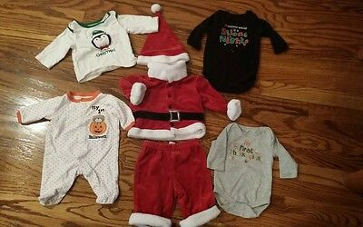 Baby Boy-Girl Unisex 0-3 Month HOLIDAY Clothes Lot (5) HALLOWEEN/T-GIVING/CMASS