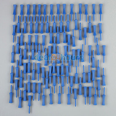 100pcs Plastic Step Down Castle Golf Tees Height Control Blue 68mm/2.68inch