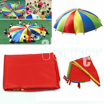 3m Rainbow Parachute Outdoor Game Exercise Sport 10FT Game Parachute For  KIds