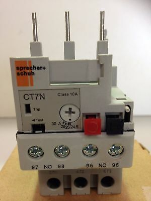 Sprecher + Schuh CT7N-37-C30 Thermal Overload Relay 10A 10amp CT7N-37-C30 CT7N