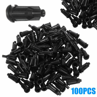 Luer lock Black dispensing syringe tip cap 100 pcs