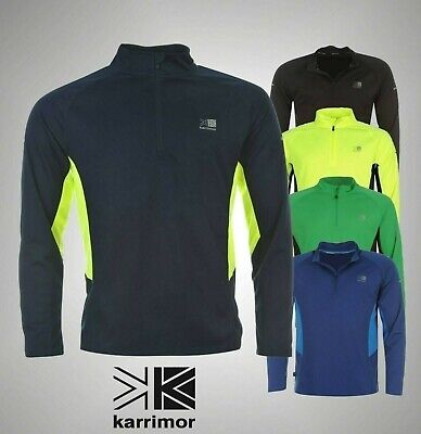Mens Karrimor Running Breathable Quarter Zip Long Sleeved Top Sizes S M L XL XXL