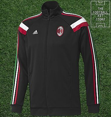 AC Milan Anthem Track Jacket - Official Adidas Football Training -All Sizes Mens