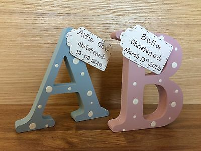 Personalised Christening / new baby gifts  Handmade letter for new baby gifts