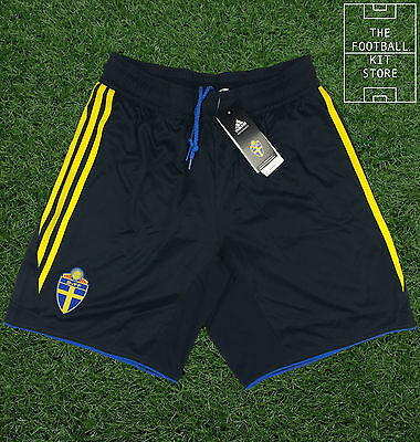 Sweden Away Shorts - Official Adidas Football Shorts - Mens - All Sizes