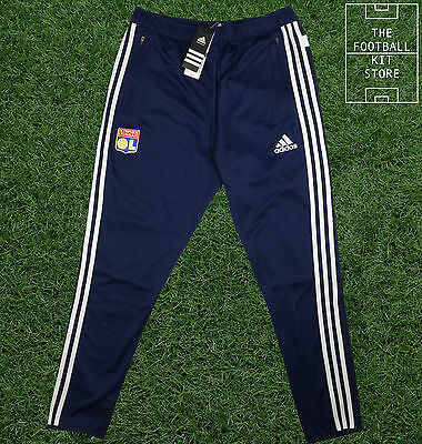 Lyon Training Pants - Official Adidas Tracksuit Pants - Mens - Zipped Pockets
