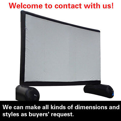 26.25ft*13ft,inflatable projector screen with Front/Rear Projection,free teax