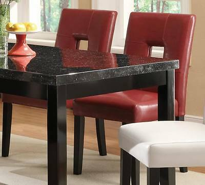 Newbridge Red Vinyl Dining Side Chair by Coaster 103612RED - Set of 2