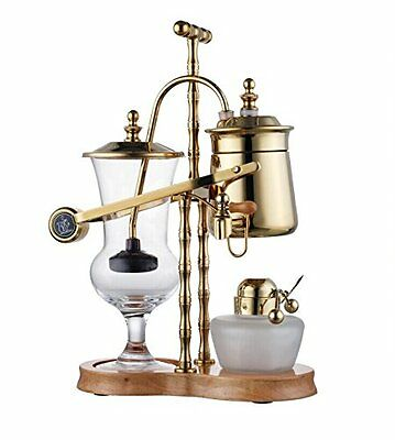Diguo Belgium Luxury Royal Family Balance Syphon Siphon Coffee Maker Gold Color