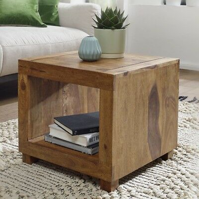 WOHNLING SHEESHAM COFFEE SIDE END TABLE SOLID WOOD FURNITURE 50 x 50 CM NEW