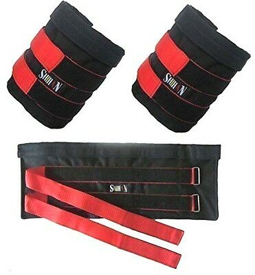 PHYSIO Shihan Ankle Weights Pouch sold without Weights 10kg Sand Bag Capacity Ad