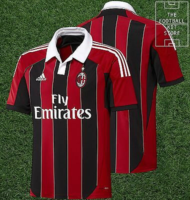 AC Milan Home Shirt - Official Adidas Football Jersey - Mens - All Sizes