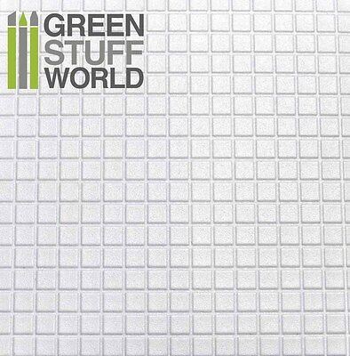 ABS Embossed White Plasticard - LARGE SQUARES Textured - Styrene Plastic Sheets