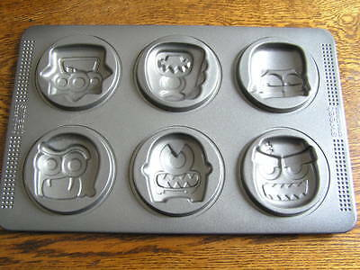 Sweet Creations 6~Cavity MONSTER FACE Cookie Mini Cake Treat Pan Mold