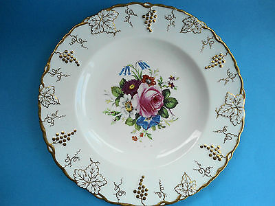 Antique Royal Crown Derby Hand Painted Cabinet Plate Pink Rose Signed Garnett-3