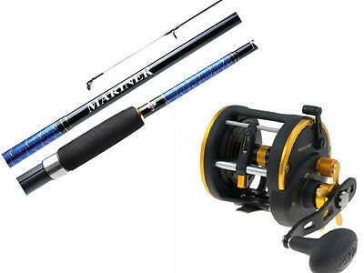 "PENN Mariner Fishing Rod and Reel Combo 5'6"" 8-12kg and PENN Squall 30LWLH Reel"