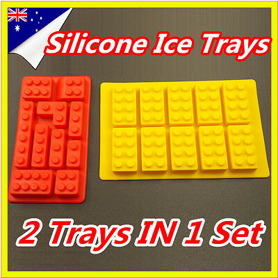 Lego Brick Ice Chocolate Cube Tray Minifigure Silicone Molds Jelly Moulds 2 In 1