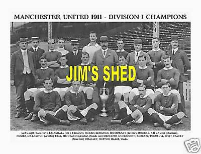 Manchester United 1911 Division One Champions Man Utd