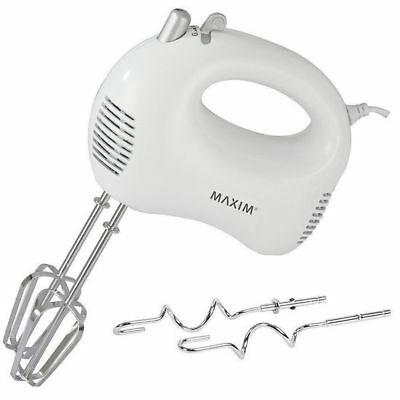 Maxim 5 Speed Electric Hand Mixer Egg Whisk Dough Beater