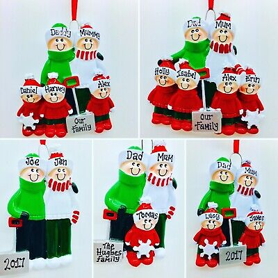 Personalised Family Christmas/Xmas Tree Decoration/ornament shovel 2,3,4,5,6