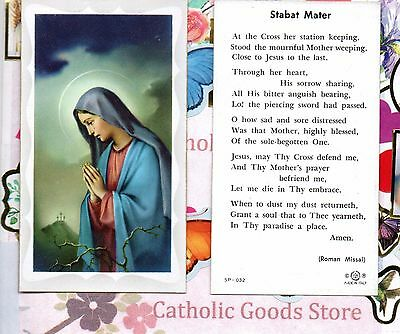 Stabat Mater - Paperstock Holy Card