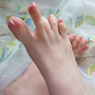 New 3D Lifelike silicone Mannequin foot clones arbitrarily-bent//posed/soft 393