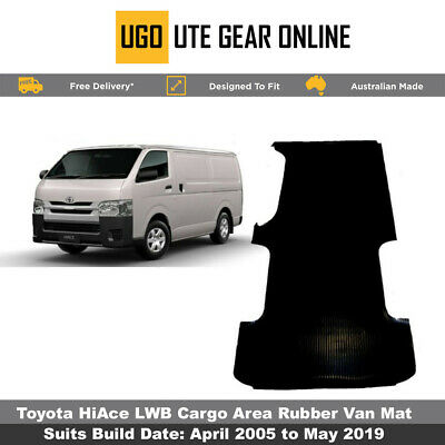 Toyota Hiace Rubber Van Cargo Area Mat  - April 2005 to Current Hi Ace