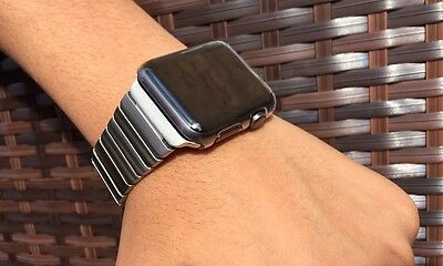 Link Bracelet Strap Band For Apple Watch Series 1 2 3 Stainless Steel 42mm