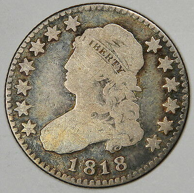 1818 Capped Bust Quarter - Nice Original Very Good (Vg) **priced Right!**